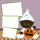 Blank template for Halloween photo frame Stock Photo
