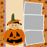 Blank template for Halloween photo frame Royalty Free Stock Photography
