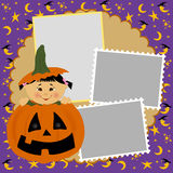 Blank template for Halloween photo frame Stock Photos