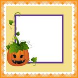 Blank template for Halloween postcard Stock Photography