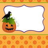 Blank template for Halloween pumpkin postcard Royalty Free Stock Photo
