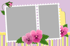 Blank template for photo frame Royalty Free Stock Photography