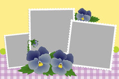 Blank template for photo frame Stock Photography