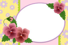 Blank template for photo frame Royalty Free Stock Images