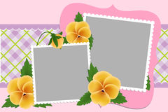 Blank template for photo frame Stock Image