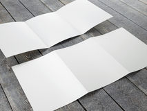 Blank Template of Trifold Brochure A4 Size Stock Photo