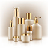 Blank templates of cosmetic products Stock Images