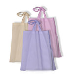 Blank textile bags Royalty Free Stock Images