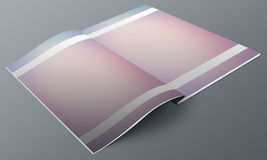 Blank Texture Magazine mock up. Royalty Free Stock Photo