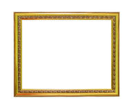 Blank Thai style picture frame isolated background Stock Photo