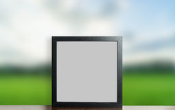 Blank Thick photo frame nature background stock photography