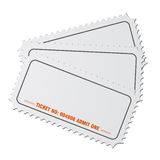 Blank tickets vector Stock Image