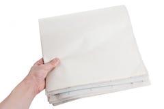 blank tidning Royaltyfria Bilder
