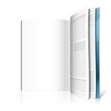 blank tidskriftsida Royaltyfria Bilder