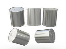 Blank tin can with pull tab for food product , clipping path inc Stock Photo