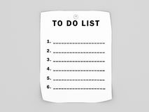 Blank to do list Royalty Free Stock Photo