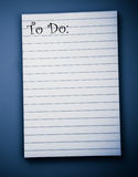 Blank To Do List stock photography