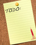 Blank To Do List stock illustration