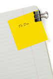 Blank to do list. With soft shadow Royalty Free Stock Photo