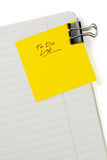 Blank to do list. With soft shadow Stock Photos