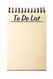 Blank To Do List Stock Photos