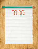 Blank To Do List. With Pencil on Wooden Table Royalty Free Stock Photos