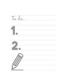 Blank TO DO list. Vector illustration of the blank TO DO list Royalty Free Stock Image
