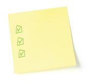 Blank To-Do List With Checkboxes Royalty Free Stock Photo