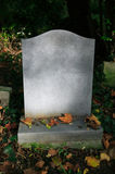 Blank Tombstone. In an old cemetery Royalty Free Stock Images