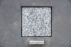 Blank Tombstone. A blank square tombstone ready for your inscription Royalty Free Stock Photography