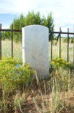 Blank Tombstone in an Old Cemetary. A blank marble tombstone in an old cemetary - Add Your Own Text Stock Image