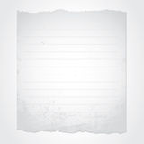 Blank torn paper. Illustration of white, old, lined paper Vector Illustration