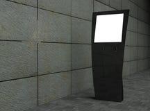 blank touchskärm för gata 3d Arkivfoton