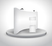 Blank trade show booth Stock Image