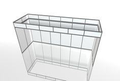 Blank trade show booth for designers 3D rendering. Set Stock Photography