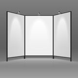 Blank trade show booth Stock Photography
