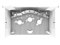 Blank trade show booth mock up. 3D rendering Royalty Free Stock Images