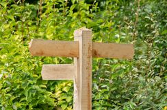 Blank traditional wooden signpost United Kingdom stock photography