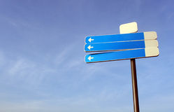 Blank traffic sign. Aginst clear blue sky Royalty Free Stock Photos