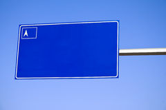 Blank traffic sign Royalty Free Stock Photos