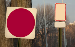 Blank traffic sign Royalty Free Stock Photography