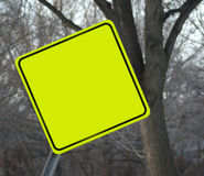 Blank traffic sign Royalty Free Stock Images