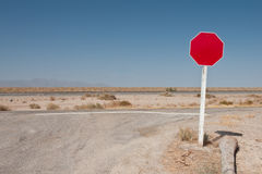 Blank traffic sign Stock Photography