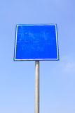 Blank traffic sign Royalty Free Stock Photo