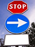 Blank traffic sign for text Royalty Free Stock Photo