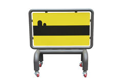 Blank traffic sign  on white background Royalty Free Stock Photography