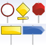 Blank Traffic Signs. Vector collection of traffic signs Royalty Free Stock Image