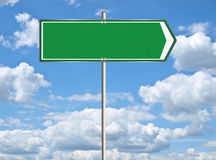 Blank trafic sign Stock Image