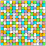 Blank transparent background puzzle jigsaw vector Stock Photography