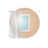 Blank Transparent Curtain Stock Photo